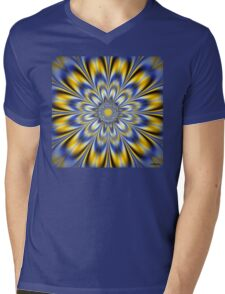 FLASHING STAR Mens V-Neck T-Shirt