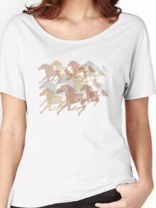 Running Horses  Women's Relaxed Fit T-Shirt