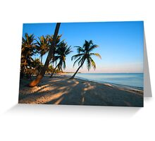Evening Light at Smather's Beach in Key West FL Greeting Card