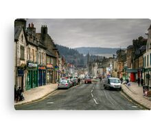 Looking Up High Street, Peebles Canvas Print