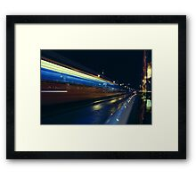 Budapest by Night, Hungary Framed Print