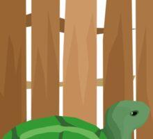 Turtle Fence Sticker