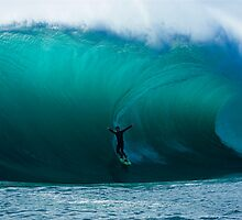 Mike Brennan in a huge barrel by andychiz