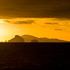 Sunset over Maatsyker Island, Tasmania by andychiz