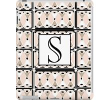 1920s Pink Champagne Deco Monogram letter S iPad Case/Skin