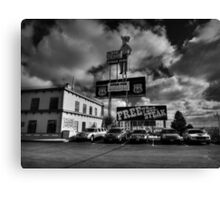 Route 66 - The Big Texan 002 BW Canvas Print