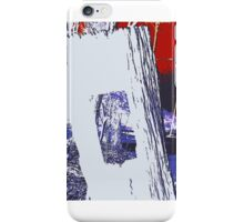 Red and Blue, the colonial boundaries abound iPhone Case/Skin