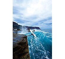 Mike Brennan Ledge Jump Shipstern Bluff Photographic Print