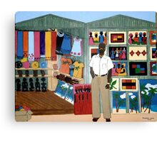 Market Stall in Dominican Republic - All products Canvas Print