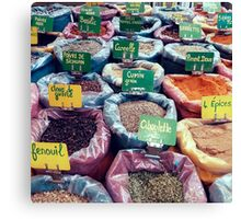 Spices at the French Market Canvas Print