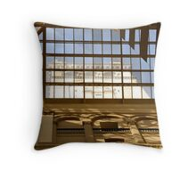 Old Post Office Clock Throw Pillow