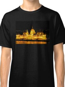 The Houses of Parliament by Night in Budapest, HUNGARY Classic T-Shirt