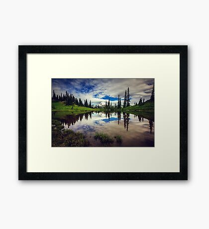 Mt Rainier Reflected in Tipsoo Lake Framed Print