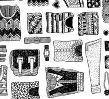 Travel Essentials Pattern Sticker