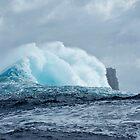 Huge Wave breaks past Eddistone Rock, off the coast of Tasmania by andychiz