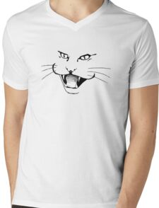 Cougar Sketch with wiskers Mens V-Neck T-Shirt