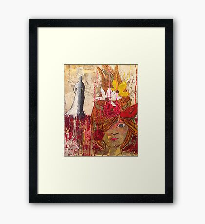 Shadow Lady Framed Print