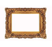 Baroque Golden Frame Photographic Print