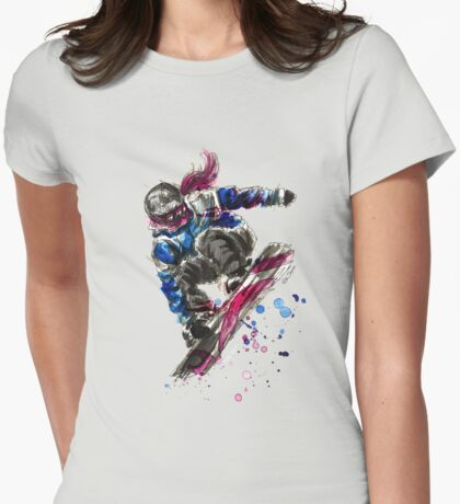 The Snowboarder Womens Fitted T-Shirt
