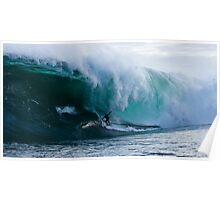 James Hollmer Cross on a monster at Shipstern Bluff Poster