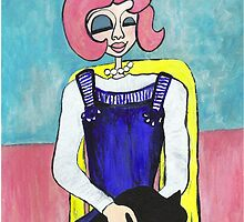 Wildago's Pearl with a Black Cat by Regalos