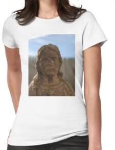 Statue of Jesus Womens Fitted T-Shirt