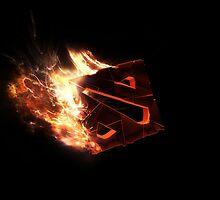 "Dota "" cool Flaming Rune by S4beR"