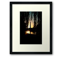 Weeping Monument Framed Print