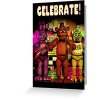 Fnaf 1 office poster. Greeting Card