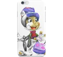 Charcoal and Oil - Jiminy Cricket iPhone Case/Skin