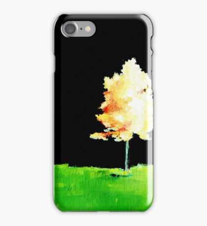 Fall Trees in Yellow iPhone Case/Skin