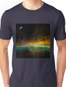 Sailing under the magical moon Unisex T-Shirt