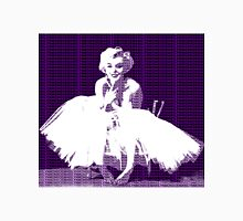 Marilyn Monroe in white dress with purple text Unisex T-Shirt