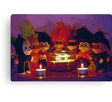 Halloween Trolls Still Life Canvas Print