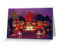 Halloween Trolls Still Life Greeting Card