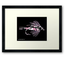 Pink Camo Fly Art Framed Print