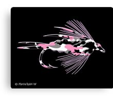 Pink Camo Fly Art Canvas Print
