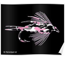 Pink Camo Fly Art Poster