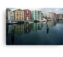 Waterfront Trondheim Norway 19840622 0034 Canvas Print