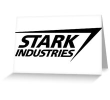 Stark Industries-Black Greeting Card