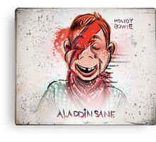 Howdy, Bowie, Art, Howdy Doody, David Bowie, Aladdin Sane, Ziggy Stardust, Illustration, Poster, Picture, puppet, marionette, children's, child, tv show, David Robert Jones, joe badon Canvas Print