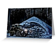 Snow Removal Greeting Card