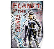 Planet of the Vampires, vampire, art, alien, aliens, sci fi, science fiction, horror, space, girl, Terrore, nello, spazio, joe badon, mario bava, Evi Marandi, blaster, gun Poster