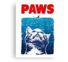 PAWS - JAWS Mashup Canvas Print