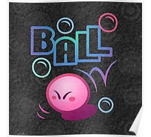 Kirby Ball Poster