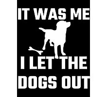 It Was Me I Let The Dogs Out Photographic Print