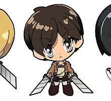 Attack on Titan - Armin, Eren, and Mikasa by 57MEDIA