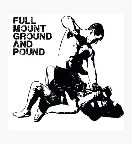 MMA Full mount ground and pound BJJ  Photographic Print