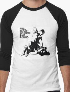 MMA Full mount ground and pound BJJ  Men's Baseball ¾ T-Shirt
