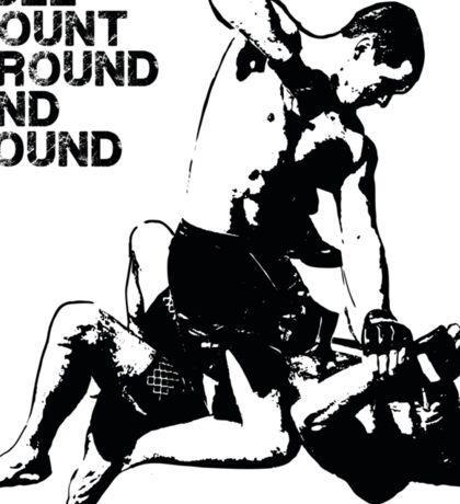 MMA Full mount ground and pound BJJ  Sticker
